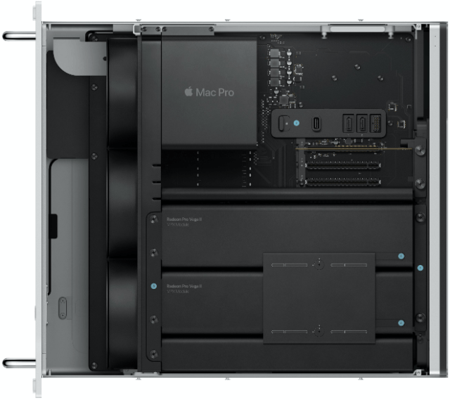 Apple's rack mountable Mac Pro (bottom)