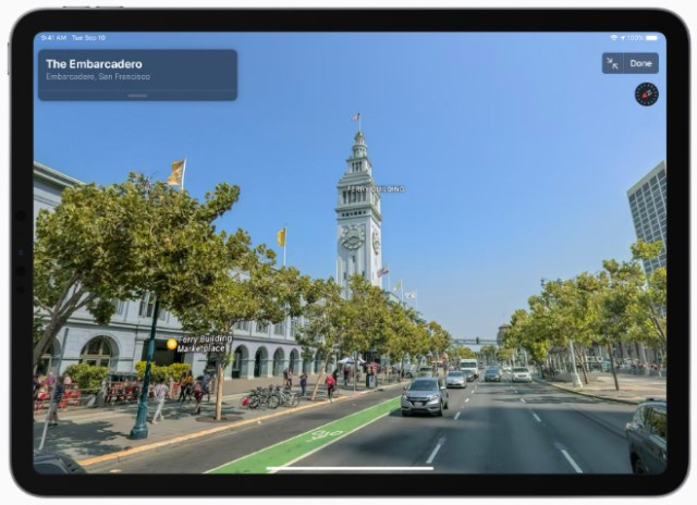 Look Around is an interactive way to visually explore a city with 3D imagery.