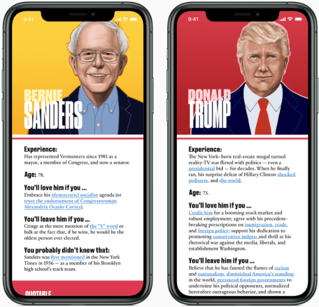 Apple News will offer a guide to each presidential candidate (source: Apple Inc.)