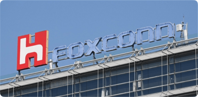 iPhone 12 production/ The logo of electronics contract manufacturer Foxconn Technology Group