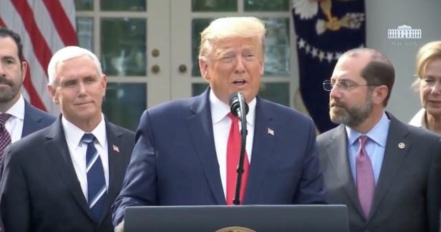 Stocks surge national emergency. Image: President Trump declares national emergency to speed U.S. coronavirus response
