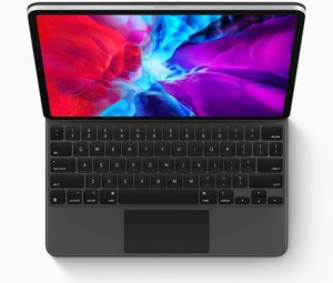 Apple computer. The Magic Keyboard for iPad Pro with trackpad