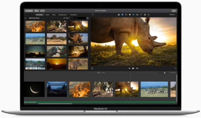 The new MacBook Air with Intel Iris Graphics makes graphics-intensive activities like editing video faster than ever.