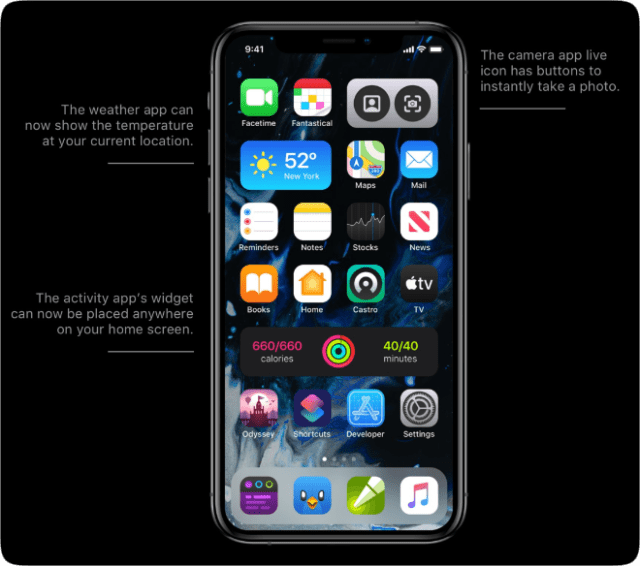 Parker Ortolani's concept for adding widgets to the iOS home screen