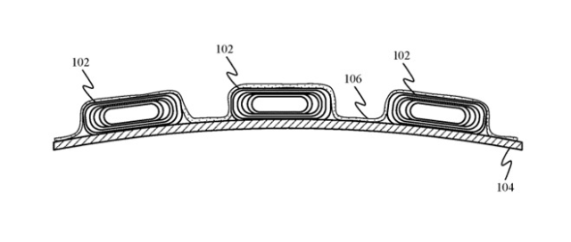 Foldable iPhone? Apple patent application illustration of one example of flexible battery cells