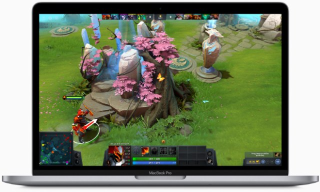 With the latest 10th-generation processors, the 13-inch MacBook Pro delivers up to 80 percent faster graphics performance for 4K video editing, faster rendering, and smoother gameplay.