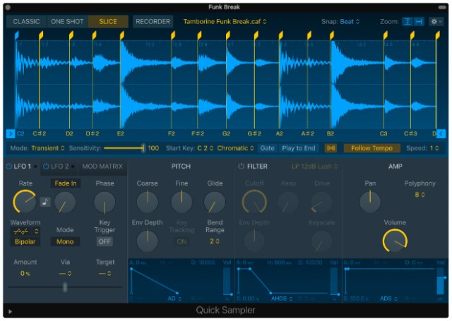 Quick Sampler makes it easy for artists to instantly turn any sound into a musical instrument.