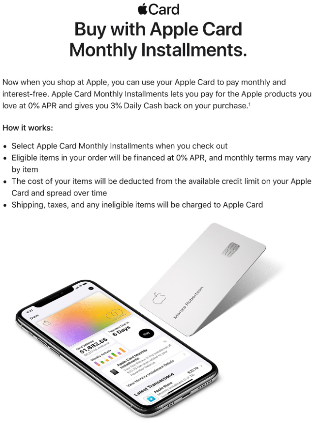 Apple Card 0% Financing Now Available for Mac, iPad, and More