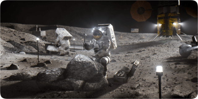 With the Artemis program, NASA plans to land the first woman and next man on the Moon by 2024. NASA plans to use what they learn on and around the Moon to take the next giant leap – sending astronauts to Mars.