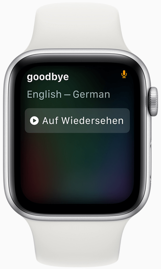 Siri can translate many languages conveniently from the wrist.