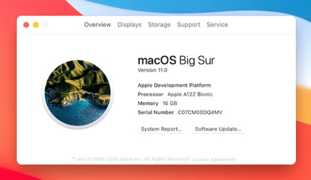 In the first developer beta of macOS Big Sur, the new operating system is listed as version 11.0.