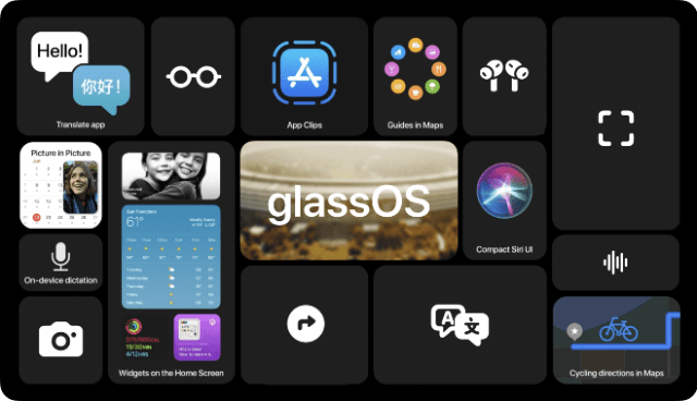 New 'glassOS' concept shows how Apple Glasses could work