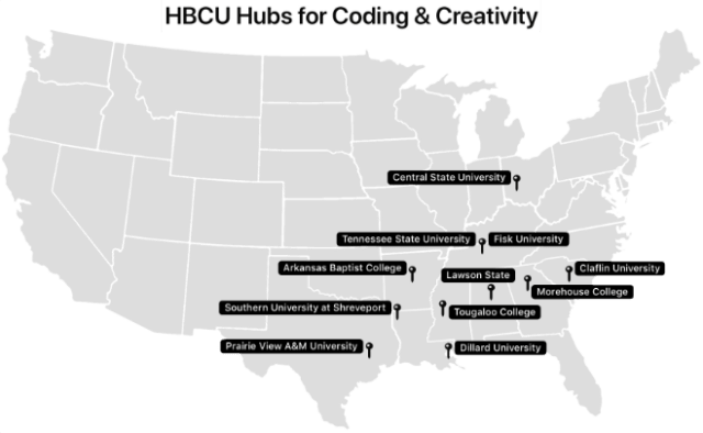 HBCUs will serve as hubs for coding and creativity, bringing together students, faculty and staff, local businesses, and community leaders to promote coding in their communities.