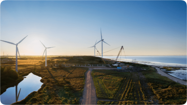 Apple is investing in the construction of two of the world's largest wind turbines on land near the Danish city of Esbjerg.