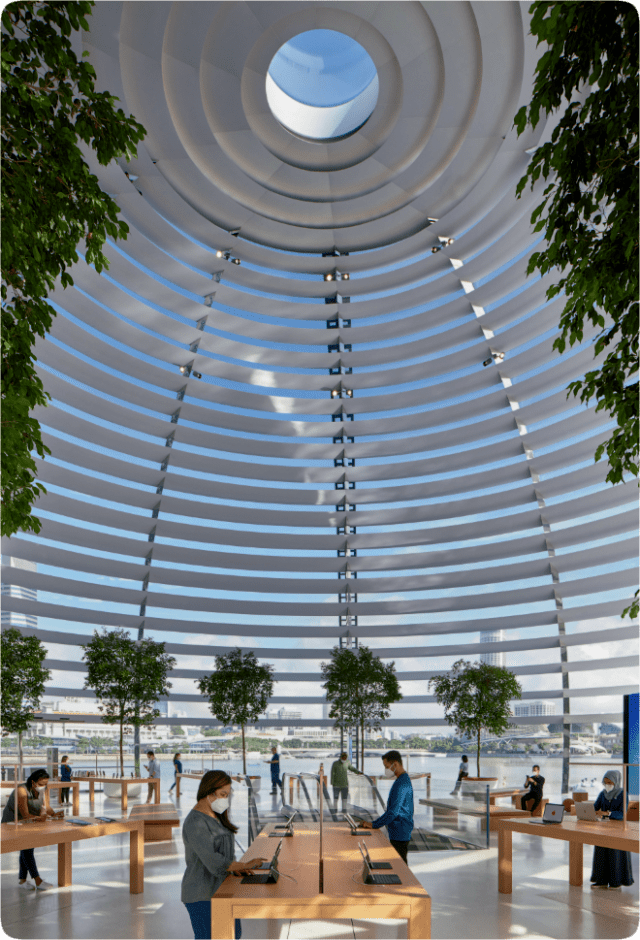 An eye at the top of the dome provides a flooding ray of light, with custom sunshade rings that secure the inner glass.