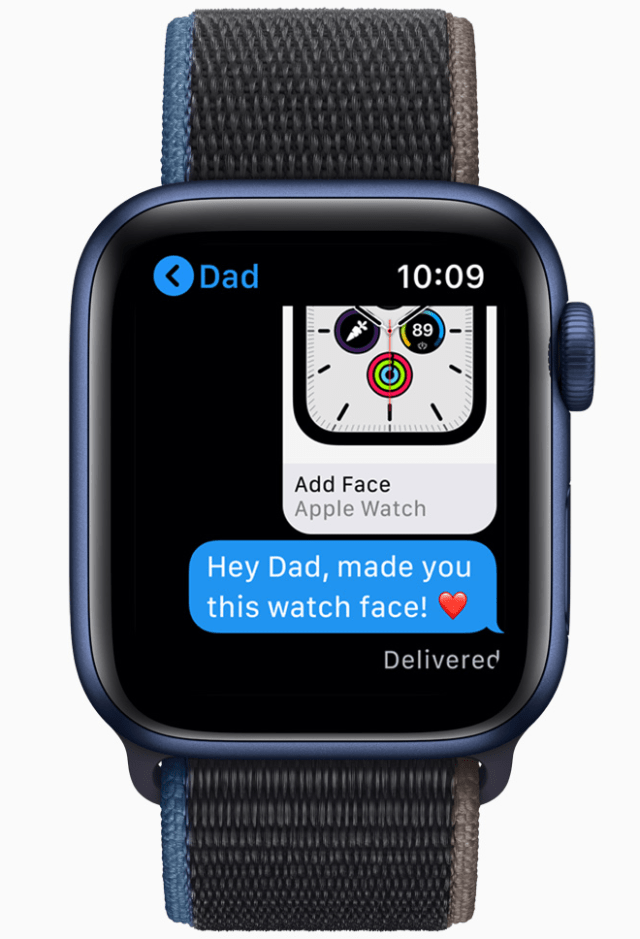 Family members without iPhone can take advantage of the many features of Apple Watch, including watch face sharing in watchOS 7.