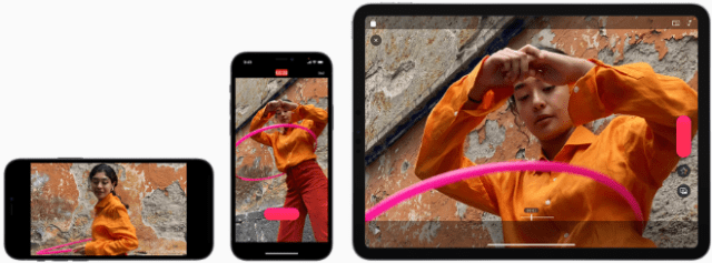 Clips expands options for social media sharing with support for vertical and horizontal aspect ratios.