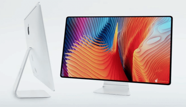 Artist's conception render of an Apple silicon-powered iMac (2021) (image: svetapple.sk)