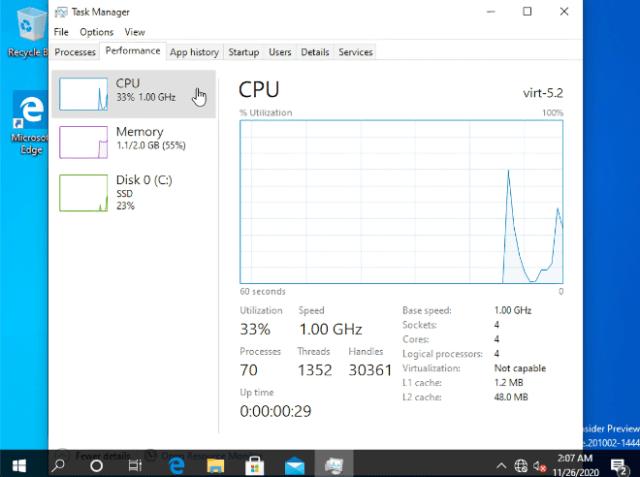 Developer runs Windows 10 on ARM virtualized on M1 Mac, finds it 'pretty snappy'