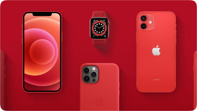 Through June 30, 2021, Apple will direct 100 percent of eligible proceeds from (PRODUCT)RED purchases to the Global Fund's COVID-19 Response to help provide services and treatment to some of the world's most vulnerable communities.