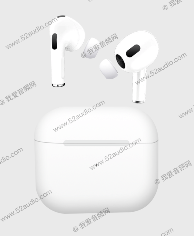 Purported AirPods 3 (Image: 52 Audio)