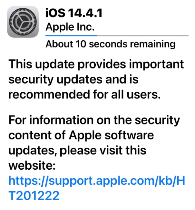 Apple releases iOS 14.4.1 and iPadOS 14.4.1