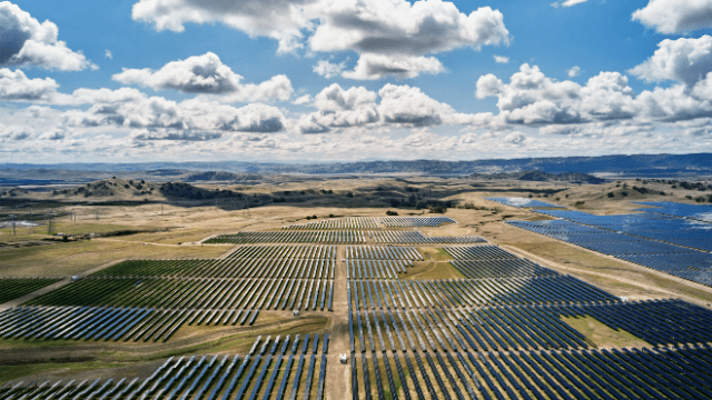 Apple's new California Flats solar farm helps power its corporate headquarters, along with solar power installed on the roof of Apple Park.