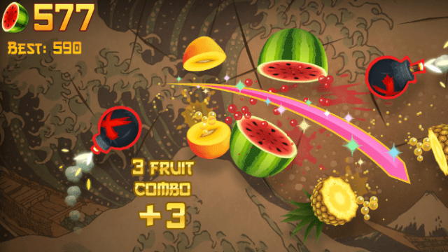 """""""Fruit Ninja Classic"""" from Halfbrick Studios lets players slice and dice their way to a high score."""
