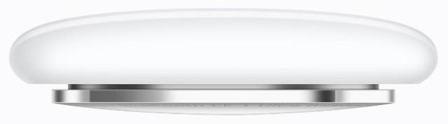 Apple's new AirTag tracker (side view)
