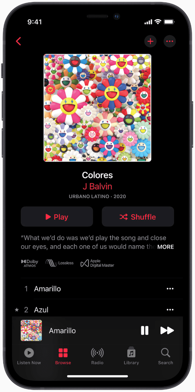 Spatial Audio with Dolby Atmos and Lossless Audio are coming to Apple Music subscribers beginning June 2021.