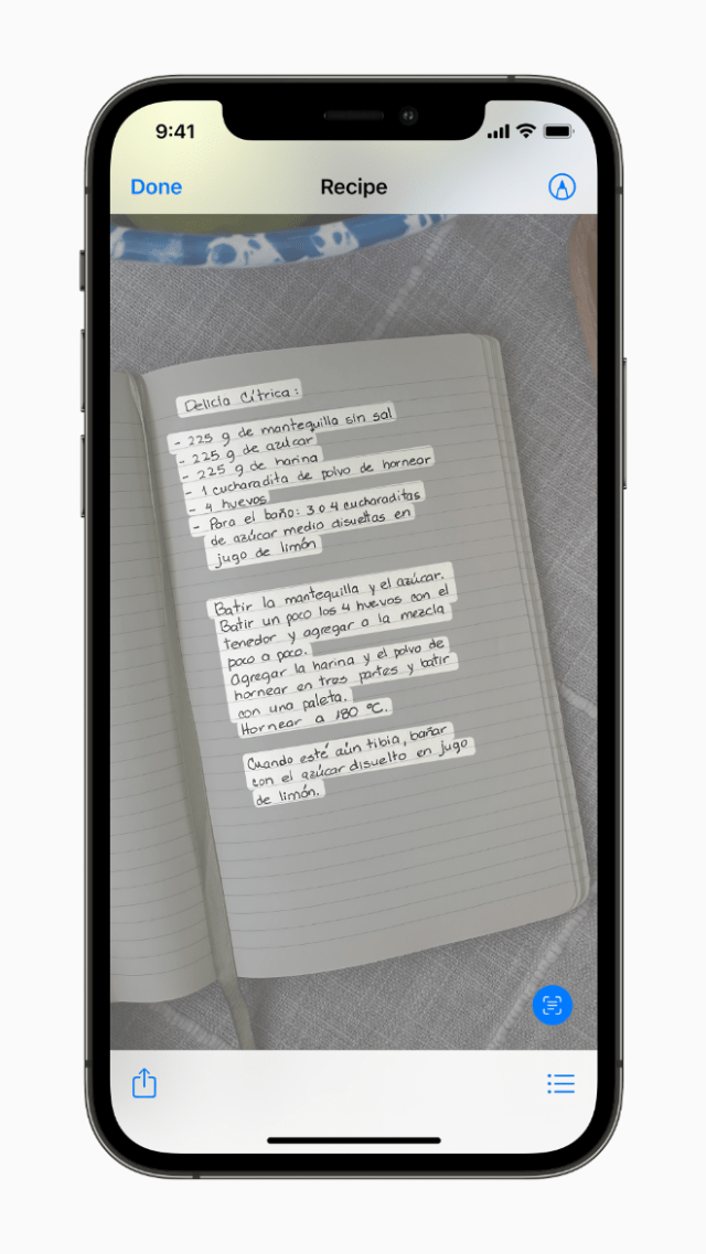 Live Text uses on-device intelligence to identify text and enhance the photos experience.