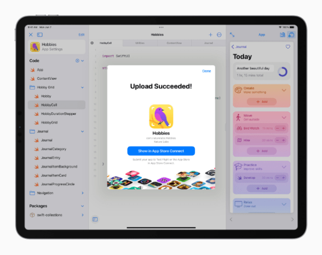With Swift Playgrounds 4, users have the tools to build apps for iPhone and iPad, on iPad, and submit them directly to the App Store.