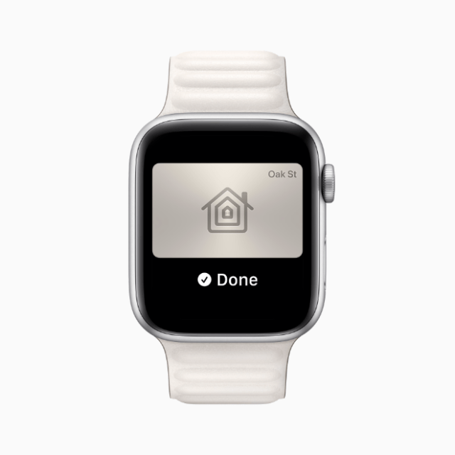 This fall, Apple Watch wearers can add keys for their home or office, and tap their watch to unlock.