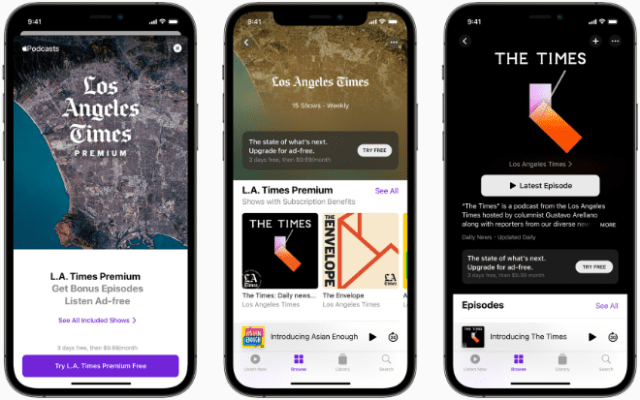 Apple Podcasts Subscriptions and channels are available for listeners starting today.