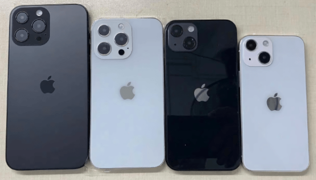 iPhone 13 and 13 Pro dummy units (Photo: Sonny Dickson)