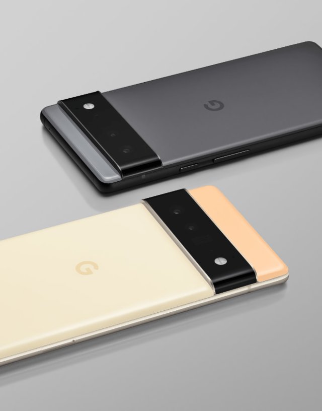 Alphabet Inc. subsidiary Google's 'Pixel 6' and 'Pixel 6 Pro' phones (rear)