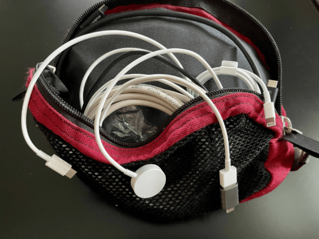 Will Apple ever unify charging connectors for iPhone, iPad, Apple Watch, and Mac? Image: cable bag and cable conectors