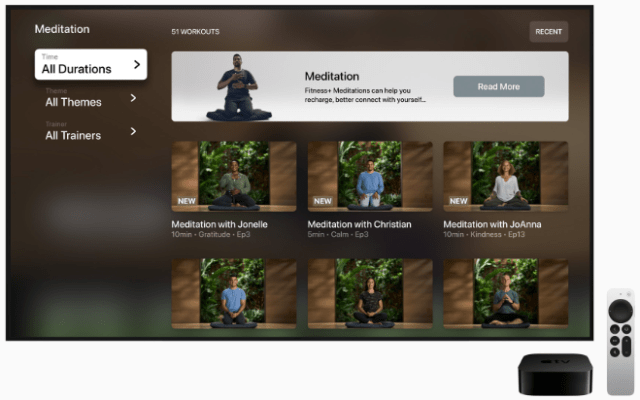 Guided Meditation will be led by a group of Mindful Cooldown and Yoga trainers users know and love, as well as two new trainers specializing in Meditation.