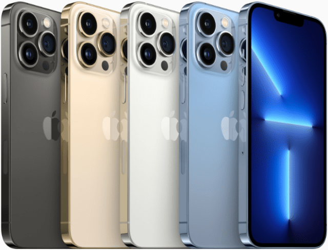 iPhone 13 Pro and flagship iPhone 13 Pro Max is available in four stunning finishes including graphite, gold, silver, and sierra blue.
