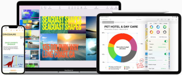 Keynote, Pages, and Numbers come with all-new features that make it easy to create amazing work on iPhone, iPad, and Mac.
