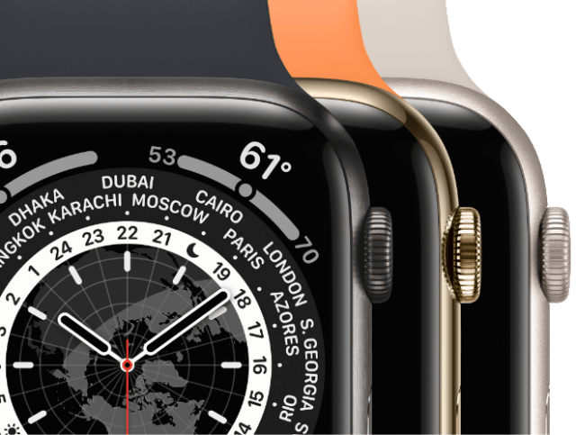 Apple Watch Series 7 is available in three materials: titanium, stainless steel, and aluminum.