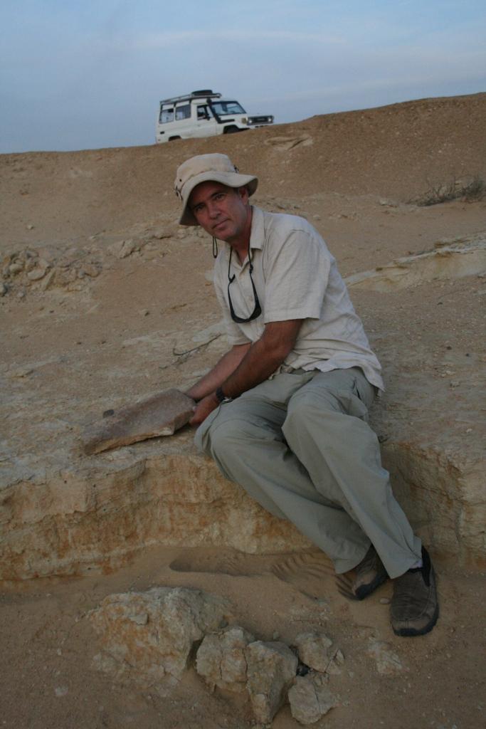 Neolithic grain grinding basin in Egypt