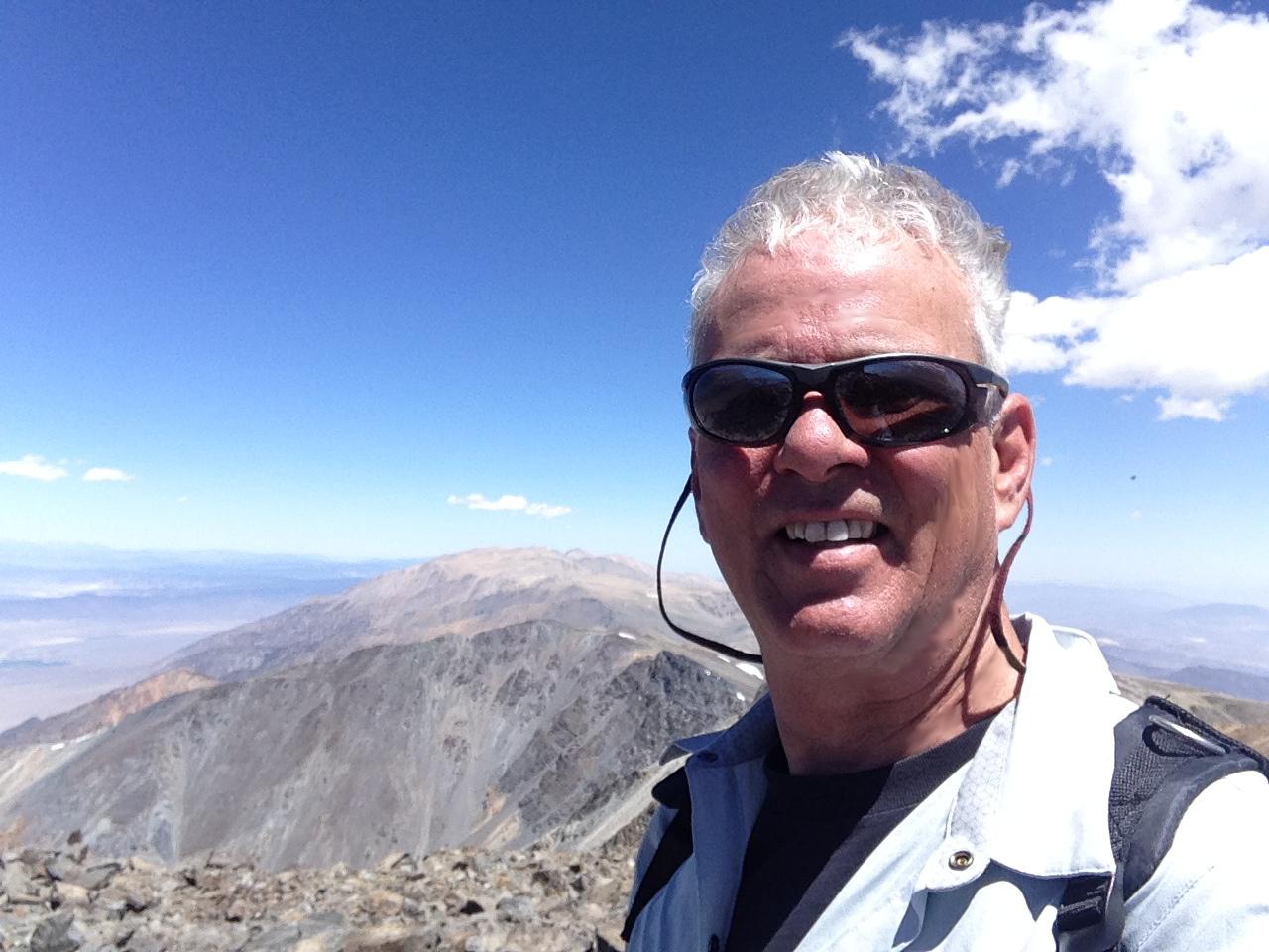 Glen MacDonald on summit of White Mountain, California 14,252 ft