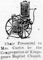 Invalids Chair Illustration 1907