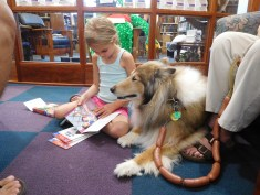 Reading to a Tail Waggin Lassie Tutor