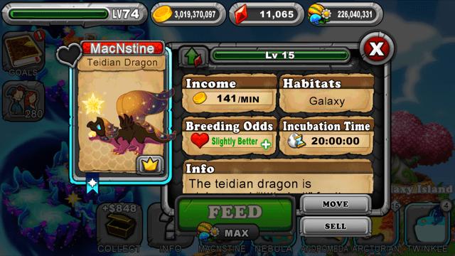 DragonVale Teidian Dragon Egg