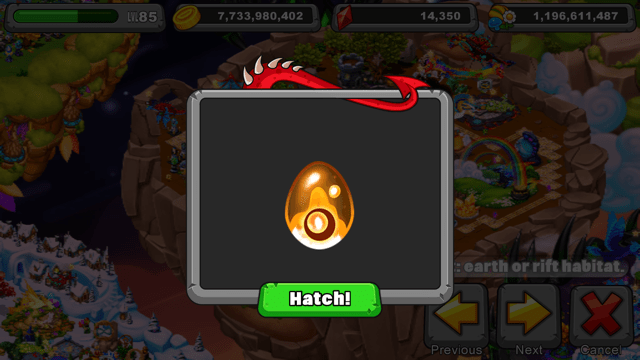 Dragonvale Earth Rift Dragon Egg