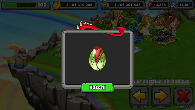 Dragonvale Rosebud Dragon Egg