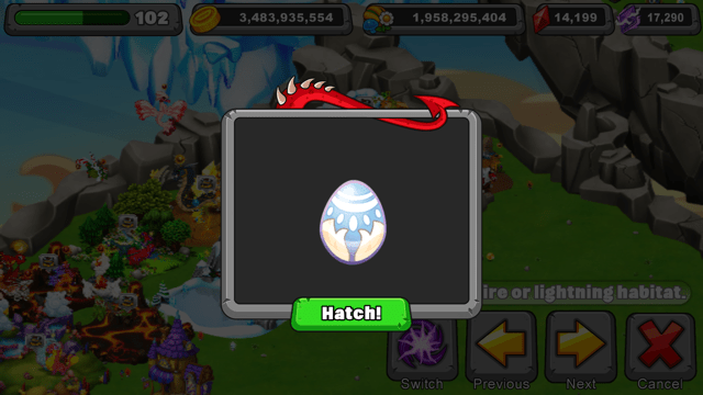 Dragonvale Bilby Dragon Egg