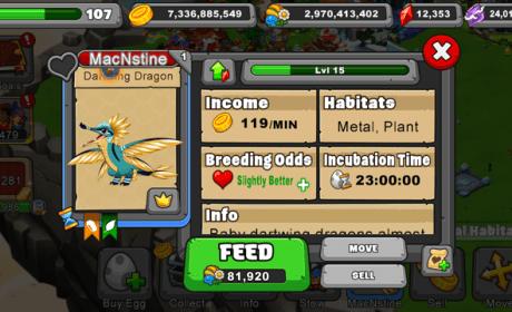 Dragonvale Dartwing Dragon